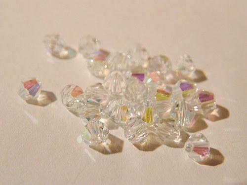sluníčka Swarovski crystal AB 4 mm