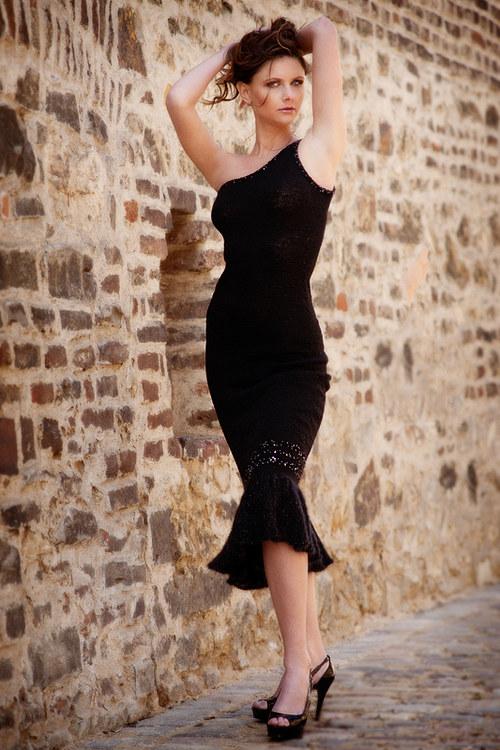 Popis - návod na pletené šaty Greek Goddess