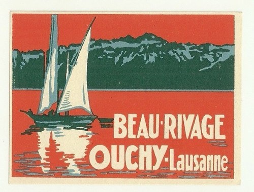 Hotelové nálepky Rivage Lausanne