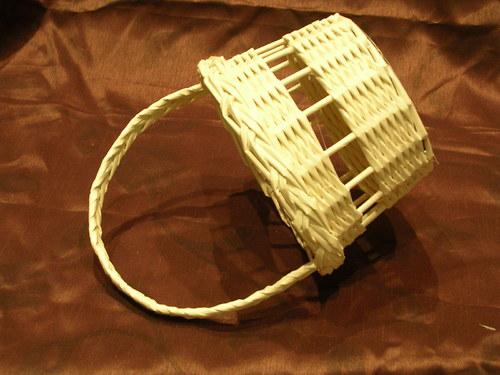 Košíček pro  družičku - Ivory barva