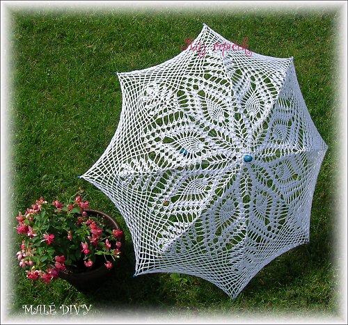 Háčkovaný deštník - slunečník