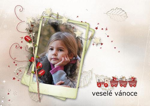 Vánoční pohlednice s Vaší fotografií