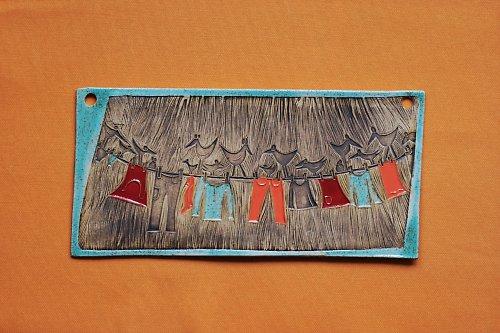 Keramický obrázek velké prádlo