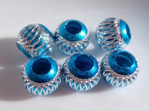 Korálek kovový modrý (10 mm)