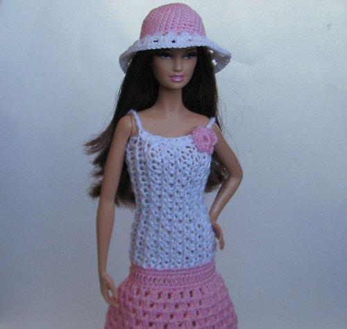 Růžovo-bílé šatičky s kloboučkem