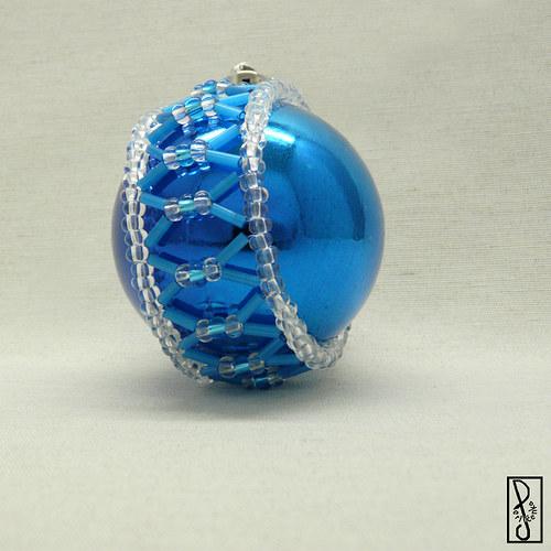 Vánoční koule modrá