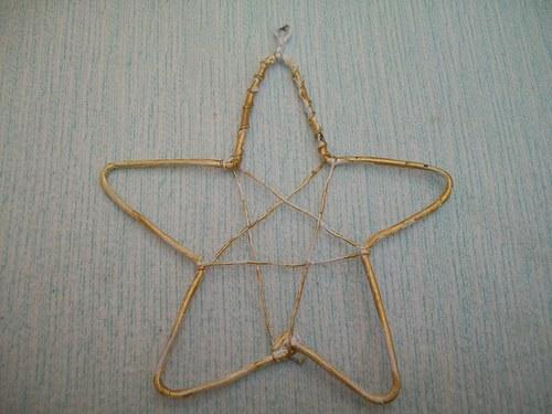 drátěná hvězda 10 x 9,5 cm
