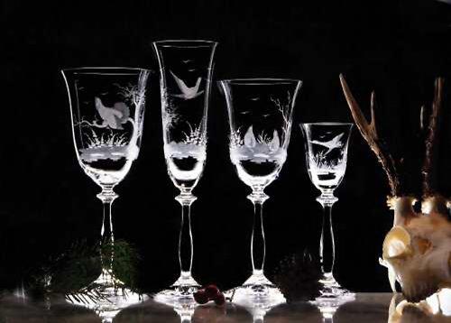 Set sklenic Angela s loveckým motivem