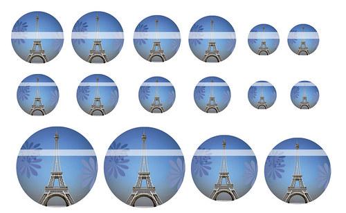 Návrh na pryskyřici - Eifelova věž č.3
