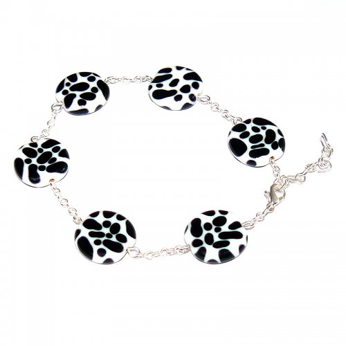 Náramek dalmatin- vinuté perle