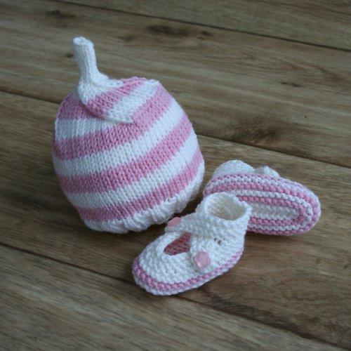 Pletený komplet pro novorozeňátko z MERINO vlny