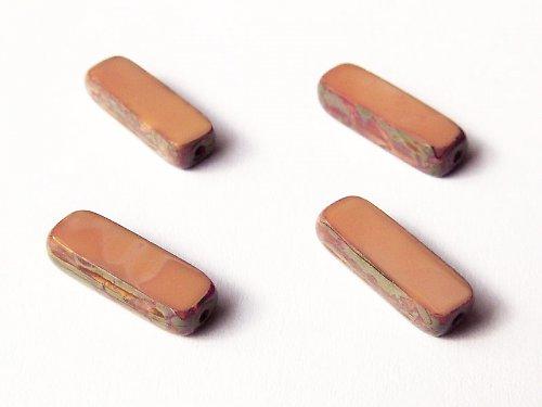 Béžové tyčinky s travertinem (ploškované korálky)
