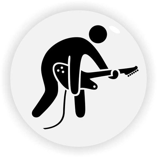 Magnetka hráč na elektrickou kytaru