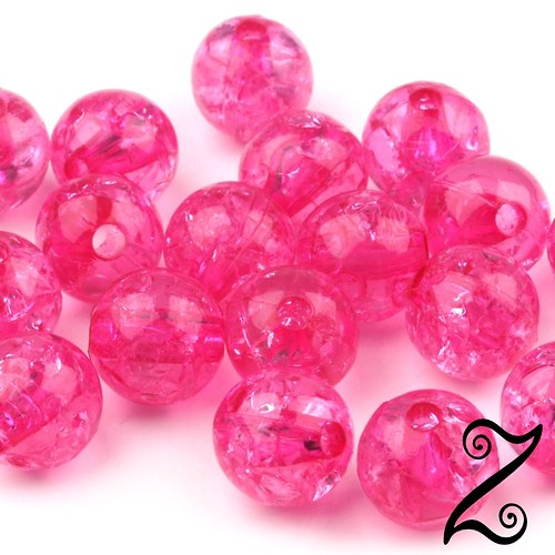 Korálky krakl, růžová, 8 mm (10ks)