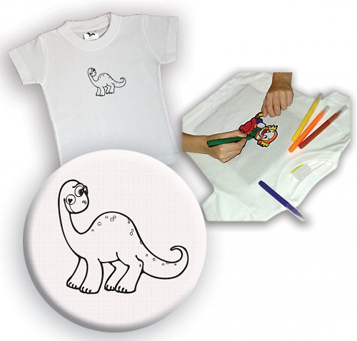 Omalovánkové tričko Dinosaurus