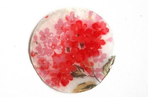 002 perleťové placky tenké- oranžový šeřík