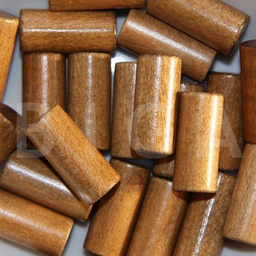 dřevěné korálky 12x28mm