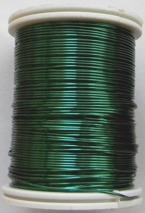 Měděný lakovaný drát 0,6 mm zelený