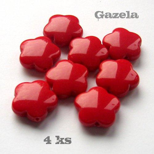 Kytičky červené - 4 ks
