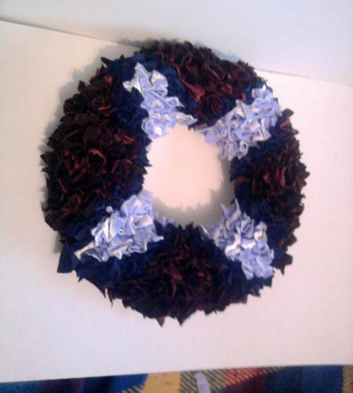 dekorační věnec modrofialová