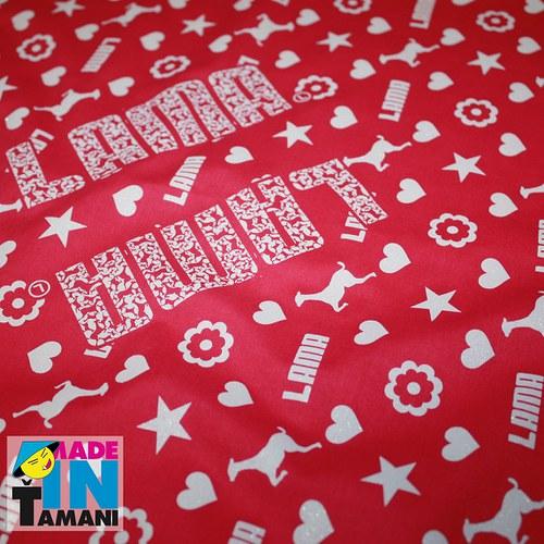 Dámský šátek Lama růžový