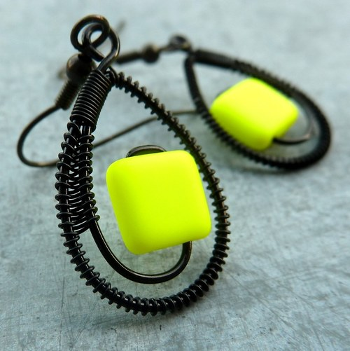 Náušnice - Crazy Neon žluté