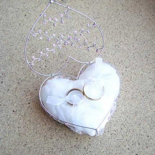 Srdeční krabička růžová - se zavíráním