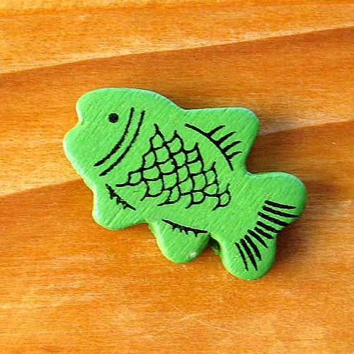 Dřevěná Rybička - Zelená