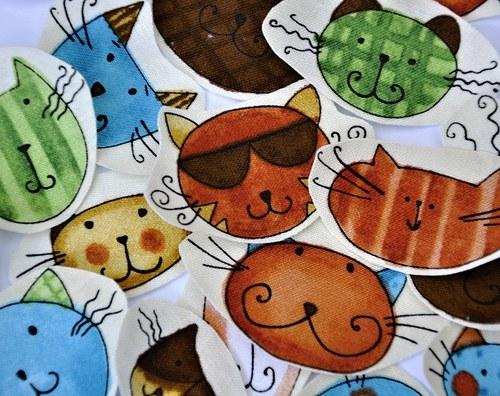 Cool cats - nažehlovací textilní obrázky