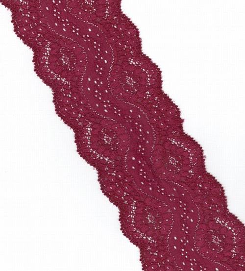 Krásná hustá krajka temně vínová 8cm