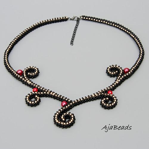 Rajčí ocásky - náhrdelník