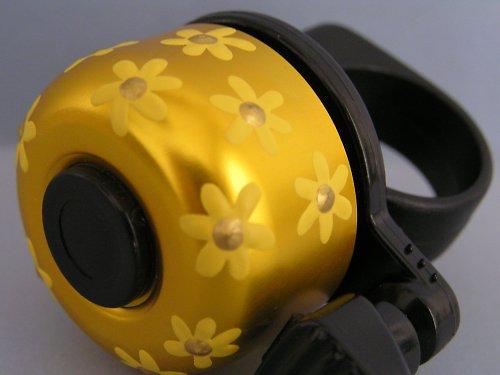 Zvonek na kolo-zlatý se žlutým kvítím