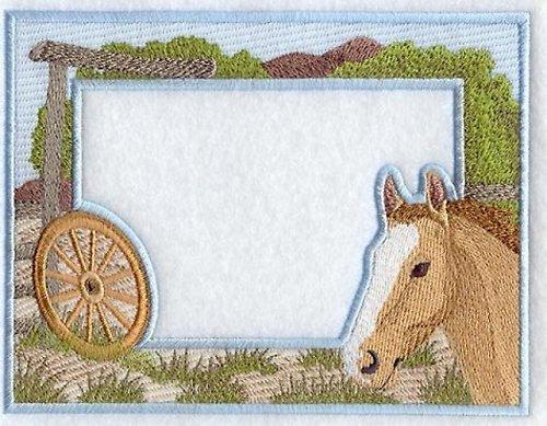 Celovyšitý magnetický rámeček na fotky Kůň