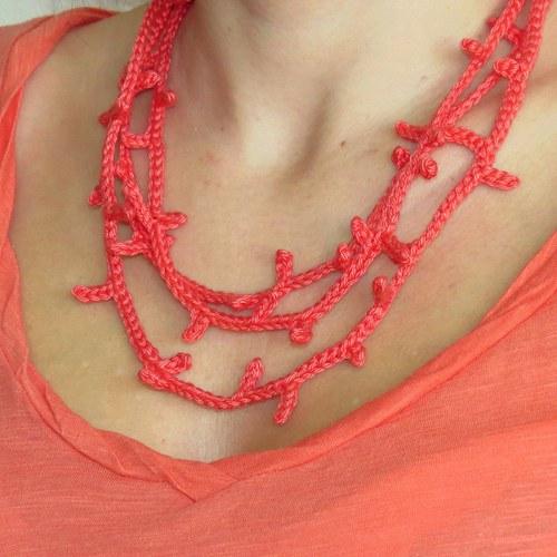 Z větviček korálu...náhrdelník