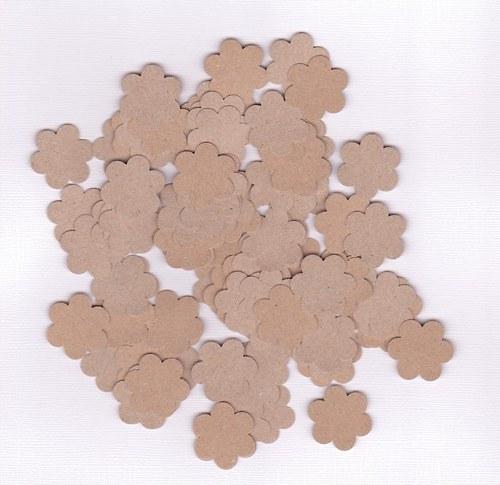 Kytička 2,5 cm - hnědé výseky (100 ks)