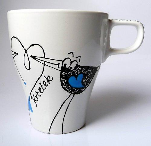 hrnek se jménem - ptáček v modrém