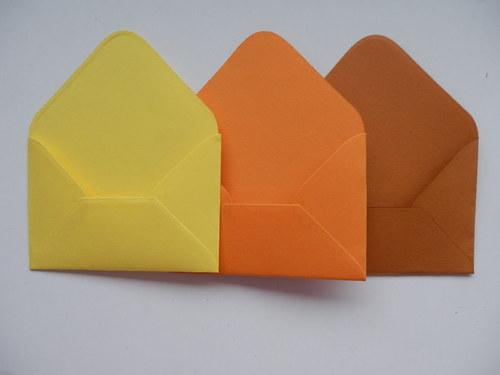 malé obálky na přáníčka set č. 5.
