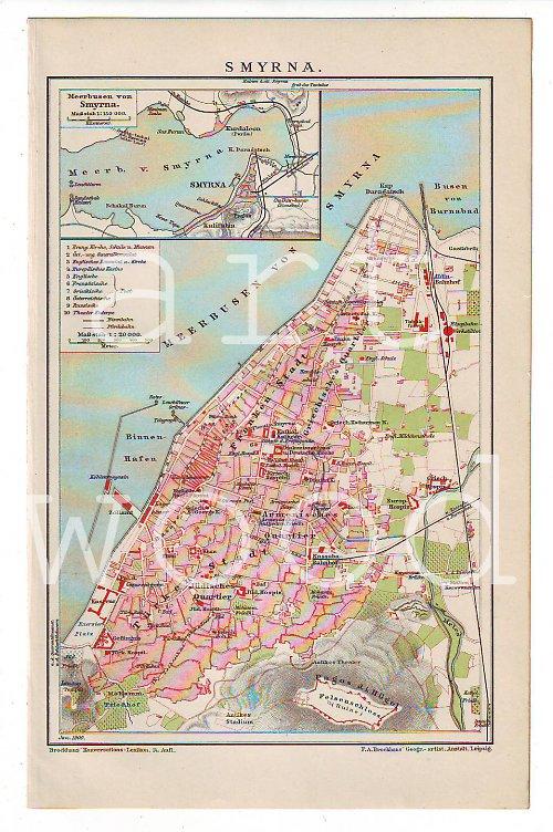 Vintage mapa  SMYRNA č.802