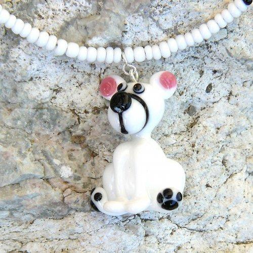 Náhrdelník lední medvěd - vinutá perle