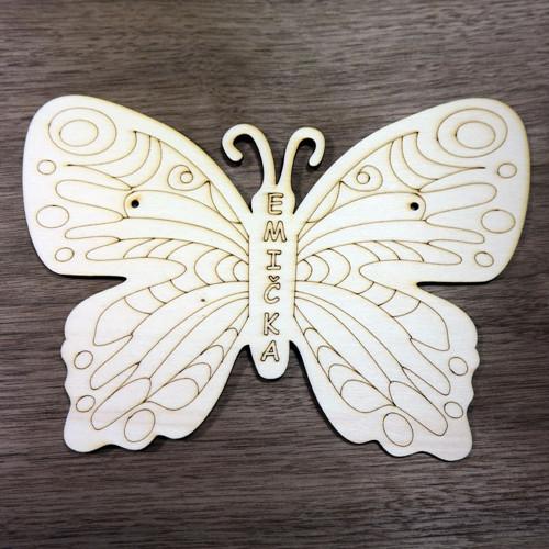 Motýl - jmenovka