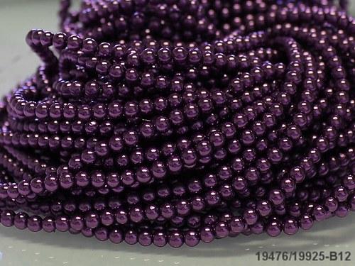 19476-B12 Voskované perly 4mm TM.FIALOVÉ, bal.30ks