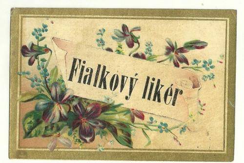 Etiketa Fialkový likér
