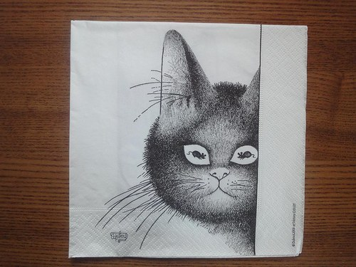 Ubrousek na decoupage - cat 3