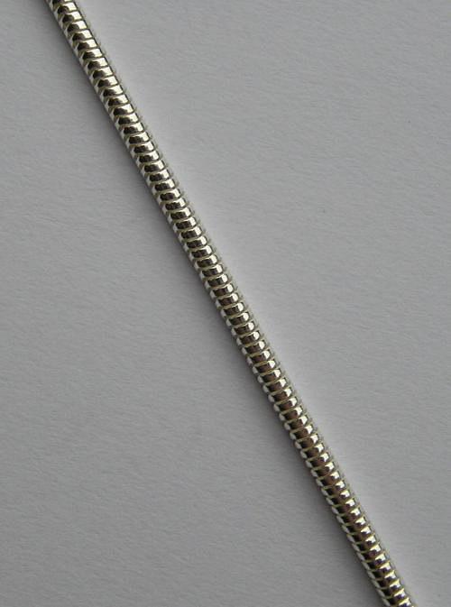 Silnější kulatý stříbrný řetízek - délka 50cm