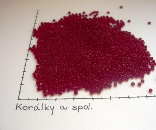 Rokajl červený - granátový10/0 2,5mm, 20g