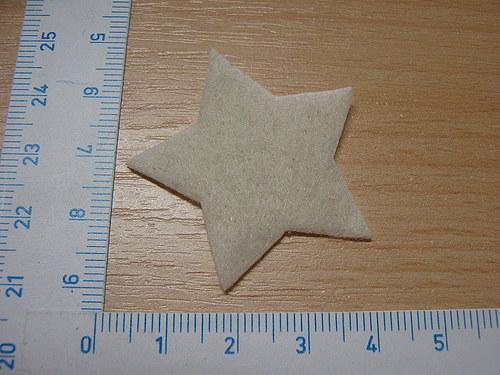 Aplikace hvězda bílá přírodní