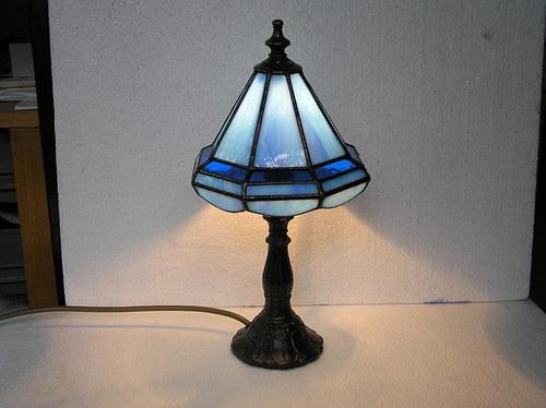 Lampička modrá malá