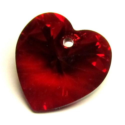 Swarovski srdce - 14,5 mm - red