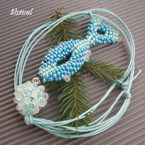 Vánoční Eda na modro