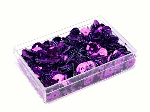 Flitry 6mm v krabičce 7g - fialové